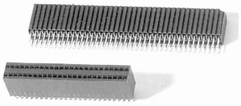 Female header profile 4.6mm dip type Connectors Product Outline Dimensions