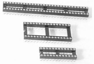 IC socket and strip-solder type Connectors Product solid picture