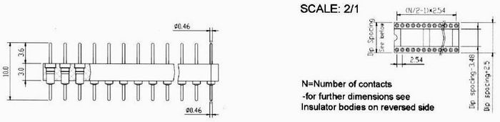 Dip and sip strip adapter Connectors Product Outline Dimensions
