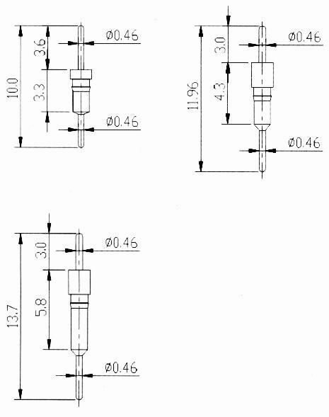Screw machine pin-adapter type Connectors Product Outline Dimensions
