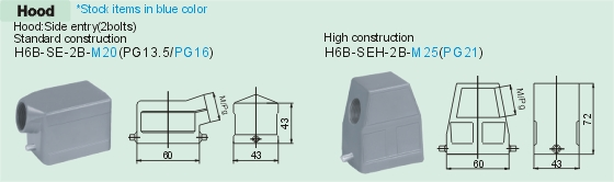 HE-006-MS     HE-006-FS Connectors Product Outline Dimensions