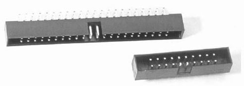 I.D.C socket connector-1 Connectors Product Outline Dimensions