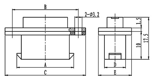 J24H typeⅡreceptacle connectors Connectors Product Outline Dimensions