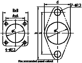 Y8B series Relays Product Outline Dimensions