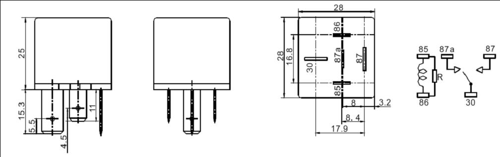 SARL-K-RELAY Relays Product Outline Dimensions