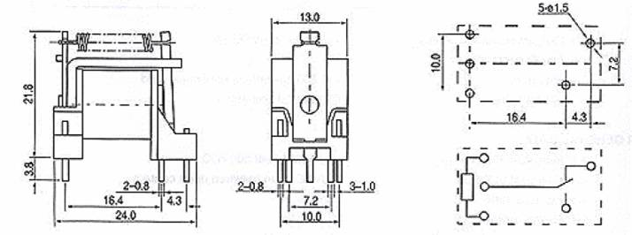 SLG-RELAY Relays Outline Mounting Dimensions