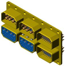 J16 six rectangular connectors Connectors Shell Accessories