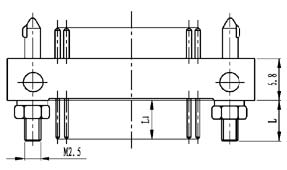 Type TX installation accessories and variations for contact tail end Connectors Product Outline Dimensions