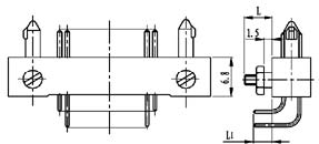 Type T installation accessories and variations for contact tail end Connectors Product Outline Dimensions