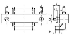 Type ZL installation accessories and variations for contact tail end Connectors Product Outline Dimensions