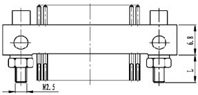 Type ZM installation accessories and variations for contact tail end Connectors Product Outline Dimensions