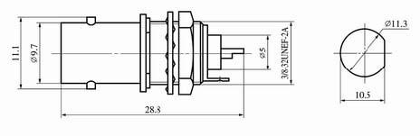 BNC series Connectors Product Outline Dimensions