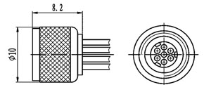 Y34 plastic shell connectors  Connectors Product Outline Dimensions