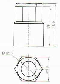Y67encapsulation tail cover accessories Connectors Product Outline Dimensions