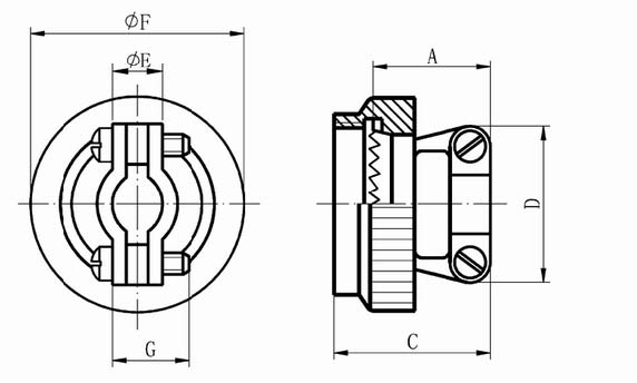 GJB599 series(MIL-C-38999)Ⅰcircular electrical connector Connectors Terminal Accessories