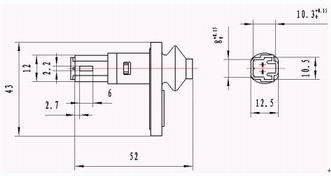 MK1 Switch Assembly for Door series Relays Product Outline Dimensions