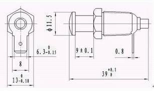 ZD1 Manual Brake Switch series Relays Product Outline Dimensions