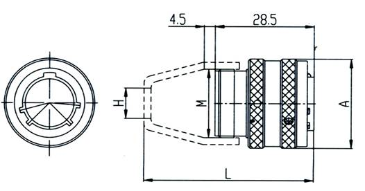 Y11 series  Connectors Outline Mounting Dimensions