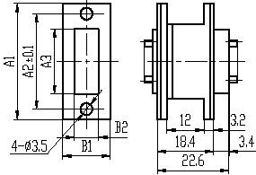 J36B series Connectors Product Outline Dimensions