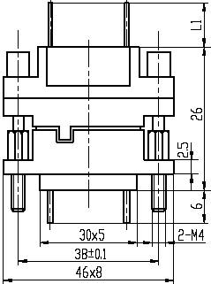 J42B series Connectors Product Outline Dimensions