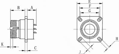 MIL-DTL-38999 series space grade  circular electric connector series Connectors Product Outline Dimensions
