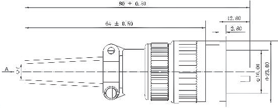 X16  series Connectors Product Outline Dimensions