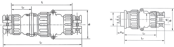 P48  series Connectors Product Outline Dimensions