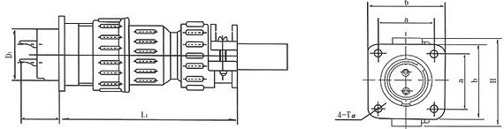 PB20D series Connectors Product Outline Dimensions