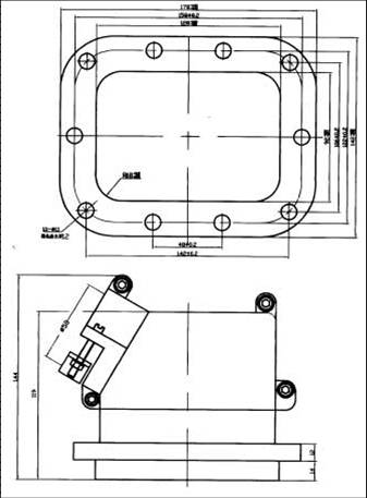 JF1 Rectangular Brush off Electrical Connector series Connectors Product Outline Dimensions