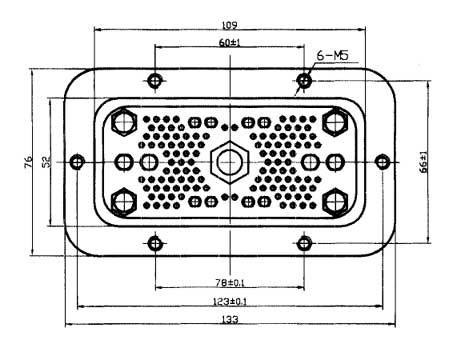 JF2-126 Rectangular Brush off Electrical Connector series Connectors Product Outline Dimensions