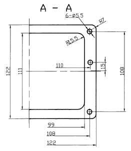 JF3-256 Rectangular Brush off Electrical Connector series Connectors Product Outline Dimensions