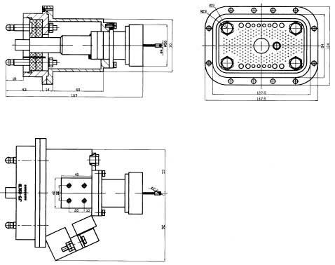 JF5 Brush off Electrical Connector series Connectors Product Outline Dimensions