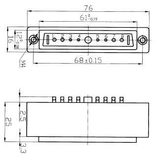 JF7 Rectangular Separation Electrical Connector series Connectors Product Outline Dimensions