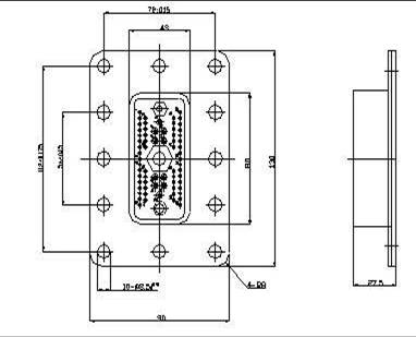 JF12-68 Rectangular Separation Electrical Connector series Connectors Product Outline Dimensions