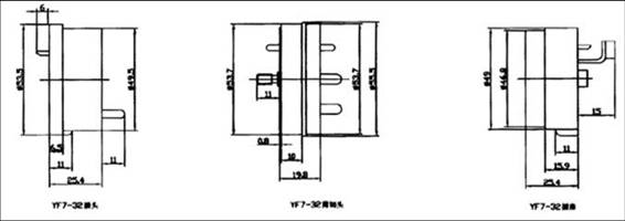YF7 Cut Separation Electrical Connector series Connectors Product Outline Dimensions