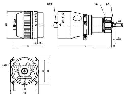 YF8 High Vacuum Separation Electrical Connector series Connectors Product Outline Dimensions