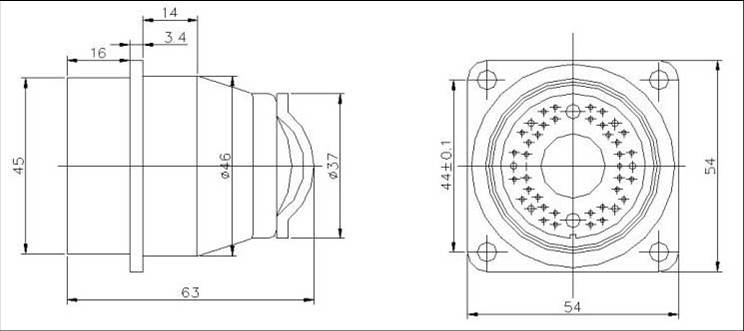 YF15 Circular Separation Electrical Connector series Connectors Contact Arrangements