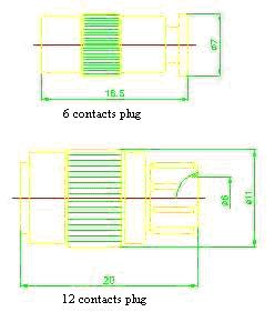 Y18 series sealed electrical connector series Connectors Product Outline Dimensions