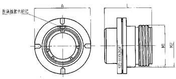 Y25 series circular electrical connector series Connectors Product Outline Dimensions