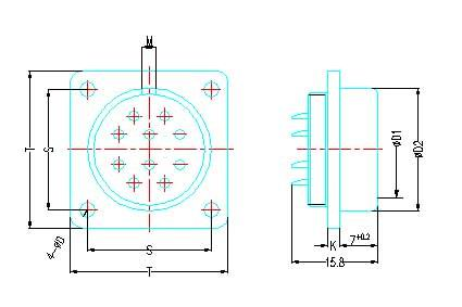 Y30A series high density  series Connectors Product Outline Dimensions