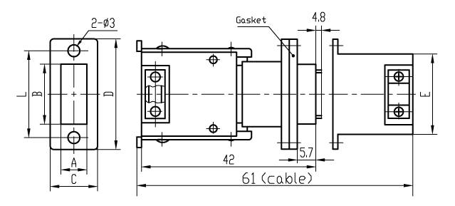 J14H Rectangular Electrical Connector series Connectors Product Outline Dimensions