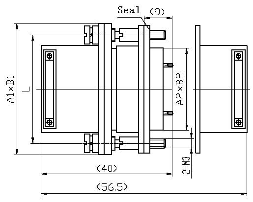 J14Q Rectangular Electrical Connector series Connectors Product Outline Dimensions
