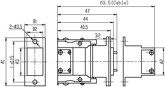 Series J36A,Rectangular,Electrical Connector series Connectors Product Outline Dimensions