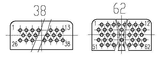 J36C Rectangular Electrical Connector series Connectors Contact Arrangements