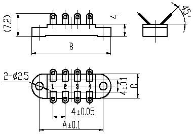 Series JB8 Terminal Board Type Connector series Connectors Product Outline Dimensions