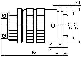 Series Y5A,Circular,Electrical Connector series Connectors Product Outline Dimensions